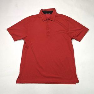 Travis Mathew Mens Polo Size L Light Red Vail Golf